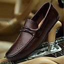 cheap Men's Slip-ons & Loafers-Men's Moccasin Nappa Leather Fall / Winter Loafers & Slip-Ons Black / Brown / Wedding