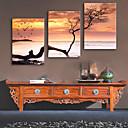 זול שעוני קיר מוטבעים בציורי קנבס-סגנון מודרני פלסטיק עץ ריבוע לֹא סָדִיר בבית,סוללה