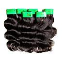 preiswerte Haarverlängerungen in natürlichen Farben-Echthaar Große Wellen 300 g 6 Monate Alltag