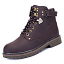 זול נעלי בד ומוקסינים לגברים-בגדי ריקוד גברים PU אביב / סתיו נוחות מגפיים אפור / חום