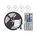cheap Lamp Bases & Connectors-ZDM® 5m Light Sets 300 LEDs 5050 SMD 5M LED Strip Light / 1 44Keys Remote Controller / 4 Connectors RGB Cuttable 12 V