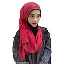 billige Etniske og kulturelle Kostymer-Hodeplagg / Abaya / hijab Mote Rosa / Blå / Rosa Chiffon Cosplay-tilbehør Halloween-kostymer