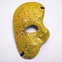 olcso Halloween jelmezek-Farsang Masquerade Mask Bíbor Piros Kék Aranyozott Fukszia Műanyagok Szerepjáték kiegészítők Álarcos mulatság