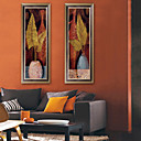 זול אומנות ממוסגרת-פרחוני/בוטני איור וול ארט,PVC חוֹמֶר עם מסגרת For קישוט הבית אמנות מסגרת סלון פנימי