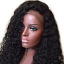 cheap Necklaces-Human Hair Glueless Full Lace / Full Lace Wig Brazilian Hair Curly / Wavy Wig With Baby Hair 130% Natural Hairline / 100% Virgin / Unprocessed Women's Medium Length / Long Human Hair Lace Wig