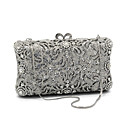 cheap Clutches & Evening Bags-Women's Bags Glasses / Metal Evening Bag Crystals Floral Print Silver