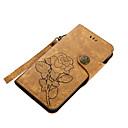 ieftine Cazuri telefon & Protectoare Ecran-Maska Pentru Nokia Nokia 6 Nokia 5 Titluar Card Portofel Cu Stand Întoarce Magnetic Model Carcasă Telefon Floare Greu PU piele pentru