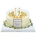 hesapli Suni Çiçek-Pasta Üstü Figürler Peri Masalı Teması / Romantizm / Doğumgünü İyi Şanş alaşım Düğün / Doğumgünü ile Taşlı / Yapay İnci 1 pcs Hediye Çantası