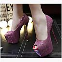 זול נעלי אוקספורד לנשים-בגדי ריקוד נשים נעליים Paillette / PU קיץ נוחות עקבים עקב סטילטו בוהן מציצה שחור / אדום