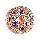 preiswerte Perlen-DIY Schmuck 1 Stück Glasperlen Aleación Rotgold Kugel Korn 0.43 cm DIY Modische Halsketten Armbänder