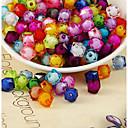 זול חרוזים-תכשיטים DIY 500 יח חרוזים אקרילי קשת ריבוע חָרוּז 1 cm עשה זאת בעצמך שרשראות צמידים