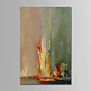 olcso Olajfestmények-Hang festett olajfestmény Kézzel festett - Absztrakt Kortárs Egyszerű Modern Vászon