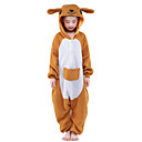 cheap Kigurumi Pajamas-Kid's Kangaroo Kigurumi Pajamas Onesie Pajamas Polar Fleece Orange Cosplay For Animal Sleepwear Cartoon Halloween Festival / Holiday / Christmas