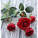 זול פרח מלאכותי-פרחים מלאכותיים 1 ענף פסטורלי סגנון ורדים פרחים לשולחן