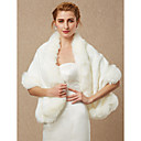 cheap Wedding Wraps-Sleeveless Faux Fur Wedding / Party / Evening Women's Wrap With Shawls