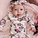 זול חולצות לבנות-חולצה חוטי זהורית אביב כל העונות שרוול ארוך יומי פרחוני בנות חמוד פעיל ורוד מסמיק