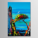 cheap Landscape Paintings-Oil Painting Hand Painted - Landscape Simple Modern Rolled Canvas