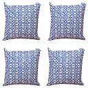 olcso Dekoratív párnahuzatok-4.0 db Textil Pamut/Vászon Párnahuzat, Csíkos Mértani Absztrakt
