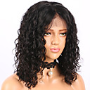 cheap Human Hair Wigs-Human Hair Glueless Lace Front / Lace Front Wig Brazilian Hair Curly / Water Wave Wig Bob Haircut / Short Bob 130% With Baby Hair / Natural Hairline / Middle Part Women's Human Hair Lace Wig