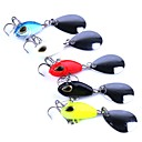 cheap Fishing Tools-5 pcs Metal Bait Hard Bait Plastic Metal Sea Fishing Trolling & Boat Fishing