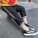 tanie Zestawy ubrań dla chłopców-Brzdąc Dla chłopców Aktywny Kolorowy blok / Kratka Bawełna Spodnie Czarny