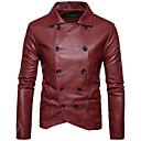 hesapli Erkek Oxfordları-Erkek Kırk Yama, Pamuklu Gömlek Yaka Solid Ceketler