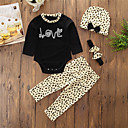 cheap Baby Girls' Clothing Sets-Baby Girls' Daily Going out Animal Print Clothing Set, Cotton Polyester Spring Fall Simple Casual Long Sleeves Black