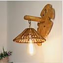 billige LED lyspærer-Mat Lanterne Væglamper Soveværelse / Have Træ / bambus Væglys 3 W / E27