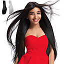 cheap Synthetic Capless Wigs-Synthetic Wig Women's Straight Black Synthetic Hair Natural Hairline / Middle Part / African American Wig Black / White Wig Long / Very Long Capless White Natural Black