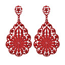 cheap Earrings-Women's Drop Earrings - Imitation Diamond Floral / Botanicals, Flower Fashion Red / Blue / Dark Pink For Going out Work