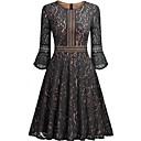 cheap Necklaces-Women's Vintage Cotton A Line Dress - Solid Colored Black