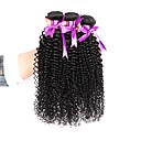 tanie Dopinki naturalne-3 zestawy Włosy brazylijskie Kinky Curl 8A Włosy naturalne Fale w naturalnym kolorze 8-28 in Ludzkie włosy wyplata 8a Ludzkich włosów rozszerzeniach Damskie