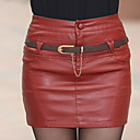 cheap Sexy Uniforms-Women's Punk & Gothic Cotton Bodycon Skirts - Solid Colored