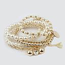 preiswerte Armband-Damen Perlen Bettelarmband Wickelarmbänder Künstliche Perle Stern damas Modisch Armbänder Schmuck Gold / Silber Für Alltag