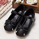 voordelige Meisjesschoenen-Meisjes Schoenen Synthetisch Microvezel PU Lente / Herfst Comfortabel / Bloemenmeisjesschoenen Platte schoenen voor Zwart / Beige / Roze