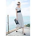 זול מסכות-מידי פסים - שמלה בתולת ים \חצוצרה סגנון רחוב בגדי ריקוד נשים