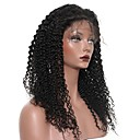 cheap Human Hair Wigs-Human Hair Lace Front Wig Peruvian Hair Kinky Curly Wig With Baby Hair 120% Natural Hairline Short / Medium Length / Long Human Hair Lace Wig
