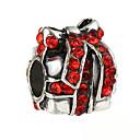 זול חרוזים-תכשיטים DIY 10 יח חרוזים אבן נוצצת סגסוגת לבן אדום כחול לֹא סָדִיר חָרוּז 0.45 cm עשה זאת בעצמך שרשראות צמידים