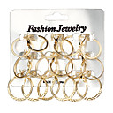 cheap Earrings-Women's Hoop Earrings - Korean, Oversized Gold / Silver For Daily / Evening Party