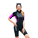 cheap LED String Lights-HISEA® Women's Shorty Wetsuit 3mm SCR Neoprene Diving Suit Short Sleeve Back Zip Classic Spring / Summer / Winter / Stretchy