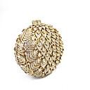 tanie Zestawy toreb-Torby Metal Torebka wieczorowa Dodatki kryształowe Kwiatowy wzór Złoty