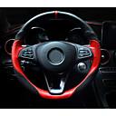 abordables Fundas para Volante-Fundas para volante piel genuina 38cm Negro / Marrón / Negro / Rojo For Mercedes-Benz GLC / Clase e / Clase C Todos los Años