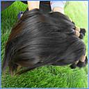 זול שזירה Remy  משיער אנושי-שיער בתולי שיער בתפזורת / מארג שיער / שזירה Remy  משיער אנושי לנשים שחורות / בתולה100% / לא מעובד ישר שיער ברזיאלי 12 אינץ' / 14 אינץ' / 16 אינץ' 400 g יותר משנה אחת שימוש מקצועי