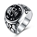 cheap Men's Rings-Men's Statement Ring - Stainless Steel Skull Rock, Hip-Hop, Oversized 8 / 9 / 10 Silver For Street / Club