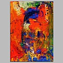 cheap Wall Stickers-Oil Painting Hand Painted - Abstract Comtemporary Canvas