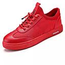 baratos Sapatos Esportivos Masculinos-Homens Tule Primavera / Outono Rasos Corrida Branco / Preto / Vermelho