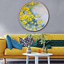 preiswerte Gerahmte Kunst-Botanisch Blumenmuster/Botanisch Darstellung Wandkunst,Plástico Stoff Mit Feld For Haus Dekoration Rand Kunst Wohnzimmer