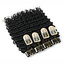 זול תוספות שיער בגוון טבעי-4 חבילות שיער ברזיאלי מתולתל / גל עמוק שיער אנושי טווה שיער אדם שוזרת שיער אנושי תוספות שיער אדם