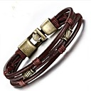cheap Men's Bracelets-Men's Chain Bracelet - Leather Fashion Bracelet Brown For Gift / Daily