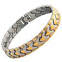 cheap Men's Necklaces-Men's Chain Bracelet Hologram Bracelet Magnetic Bracelet - Stainless Steel Bracelet Gold / Black For Causal Daily
